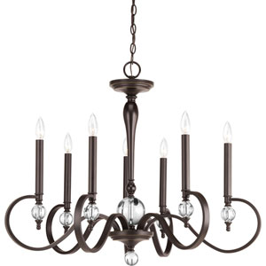 Wellington Antique Bronze Seven-Light Chandelier