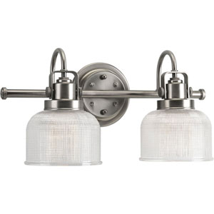 Afton Antique Nickel Two-Light Bath Fixture