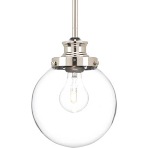 Isles Polished Nickel 7-Inch One-Light Globe Mini Pendant