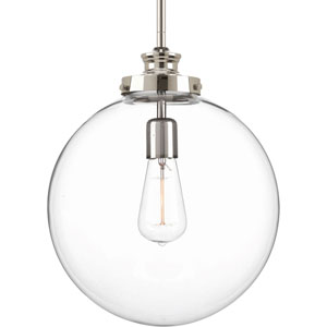 Isles Polished Nickel One-Light Pendant