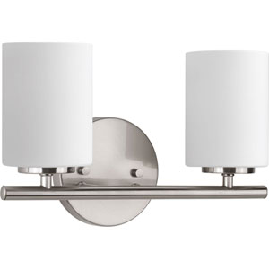Nicollet Brushed Nickel Two-Light Vanity