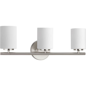 Nicollet Brushed Nickel Three-Light Vanity
