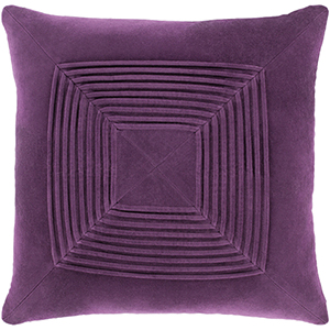 Monroe Dark Purple 18 In. Throw Pillow