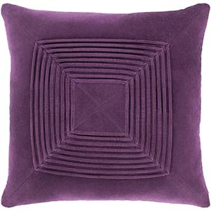 Monroe Dark Purple 22 In. Throw Pillow