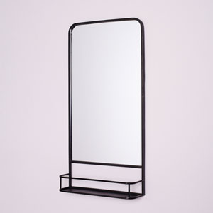 Camden Matte Black Pharmacy Mirror