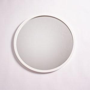 Camden White 28-Inch Circular Mirror