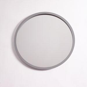 Camden Gray 28-Inch Circular Mirror