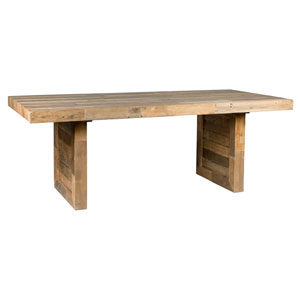 Natalie Distressed Natural Reclaimed Pine 82 In. Dining Table