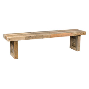 Natalie Distressed Natural Reclaimed Pine 71 In. Bench