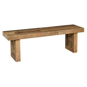 Natalie Distressed Natural Reclaimed Pine 55 In. Bench