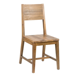 Natalie Distressed Natural Reclaimed Pine Dining Chair