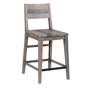 Natalie Distressed Charcoal Reclaimed Pine 24 In. Counter Stool