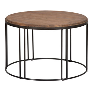 Beckett Distressed Mahogany Reclaimed Pine Coffee Table