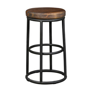 Alex Mahogany Brown 24 In. Counter Stool