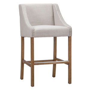 Cora French Beige 24 In. Counter Stool