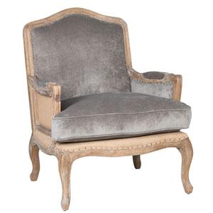 Hannah Grey Club Chair