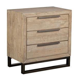 Nora Taupe Reclaimed Pine Three Drawer Nightstand