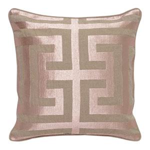 Rose Blush Pink 22 In. Throw Pillow
