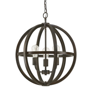 Fulton Brushed Espresso Three-Light Pendant