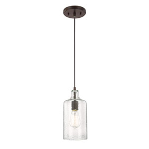 Afton Bronze One-Light Mini Pendant