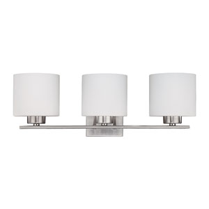 Nicollet Brushed Nickel Three-Light Bath Sconce