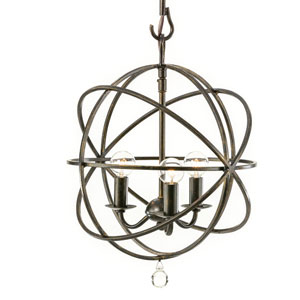Linden Bronze Three-Light Mini Chandelier