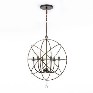 Linden Bronze Six-Light Chandelier