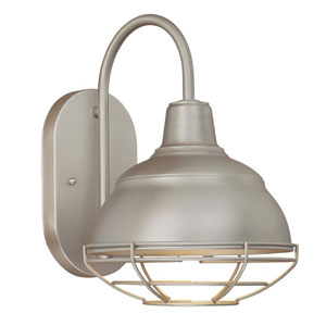 River Station Satin Nickel One-Light Bath Sconce