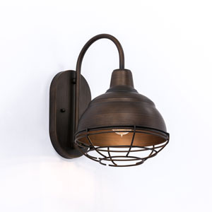 River Station Rubbed Bronze One-Light Bath Sconce