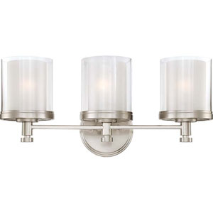 Selby Brushed Nickel Three-Light Bath Sconce