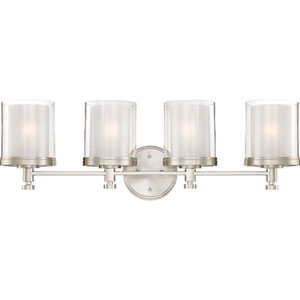 Selby Brushed Nickel Four-Light Bath Sconce