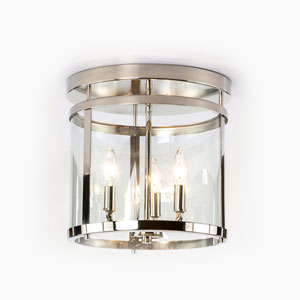 Selby Polished Nickel Three-Light Semi Flush Mount