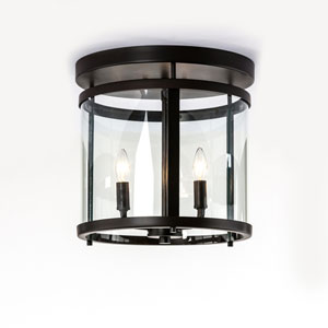 Selby Bronze Three-Light Semi Flush Mount