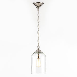 Afton Polished Nickel One-Light Mini Pendant