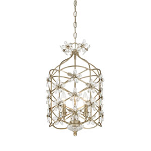 Whittier Mixed Silver Three-Light Mini Chandelier