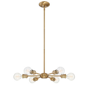 Loring Natural Brass Six-Light Chandelier