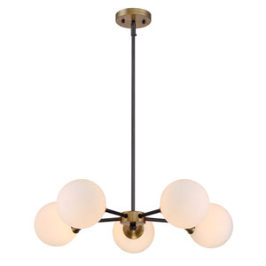 Nicollet Oiled Rubbed Bronze Five-Light Chandelier