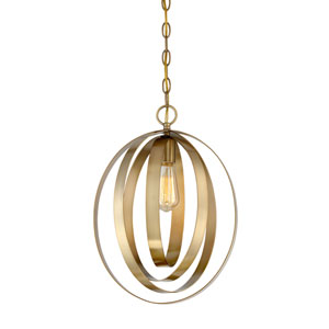 Linden Natural Brass 12-Inch One-Light  Pendant