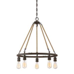 Fulton Rust Five-Light Chandelier