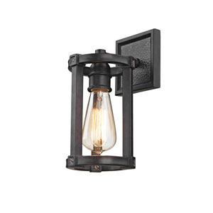 River Station Aged Bronze One-Light Wall Sconce