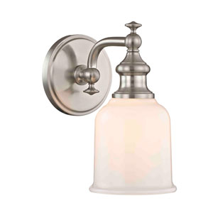 Evelyn Satin Nickel One-Light Wall Sconce