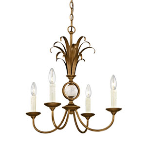 Wellington Burnished Gold Four-Light Chandelier