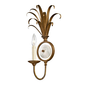 Wellington Burnished Gold One-Light Wall Sconce