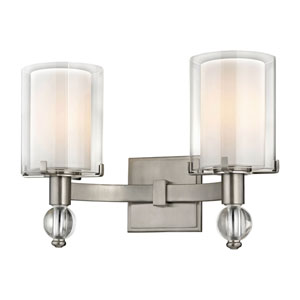 Cooper Satin Nickel Two-Light Wall Sconce