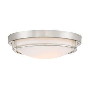 Nicollet Brushed Nickel Two-Light Flush Mount