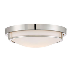 Nicollet Polished Nickel Two-Light Flush Mount