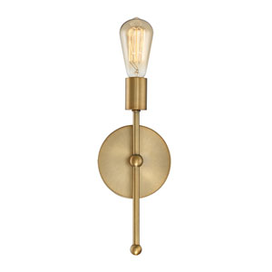 Whittier Natural Brass One-Light Wall Sconce