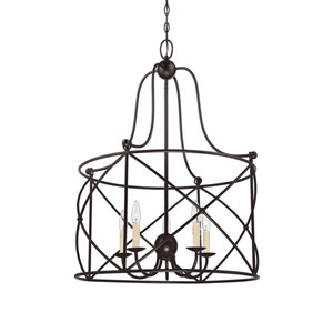 Quinn Bronze Five-Light Lantern Pendant