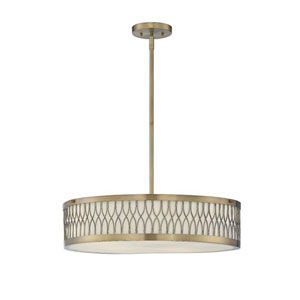 Linden Brass Five-Light Drum Pendant