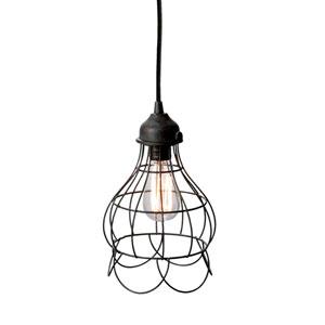 Hayden Brown One-Light Wire Cage Mini-Pendant